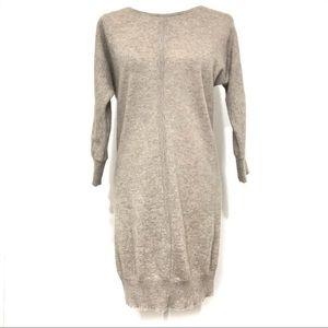Cynthia Rowley 100% cashmere long tunic